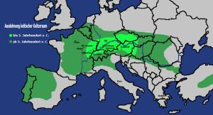 Ausbreitung Kelten Europa